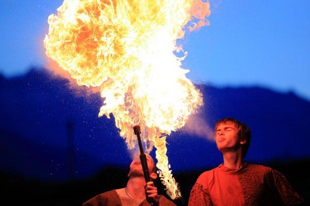 Médiévales Saillon - Cracheurs de feu