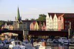 Houses along Nidelven River Trondheim